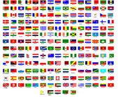 Drapeaux de tous les pays dans le monde — Vecteur