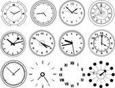 Illustration of different clocks — Stockvektor