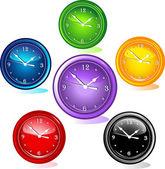 Illustratie van verschillende klokken — Stockvector