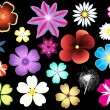 Royalty-Free Stock Vector Image: Different types of flowers