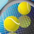 tennisbal en racket — Stockvector