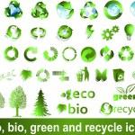 エコ ・ バイオ ・ グリーン リサイクル シンボル — ストックベクタ