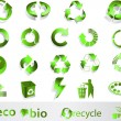 Eco, bio, groen en recycle symbolen — Stockvector  #1974145