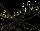 Background with music notes — Stockvector