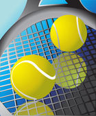 Tennis ball and racket — Stock Vector