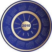 Kalender, 2010 — Stockvector