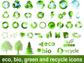 Eco, bio, green and recycle symbols — Stockvektor