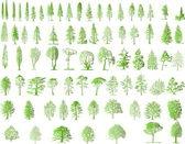 Tree silhouettes — Cтоковый вектор