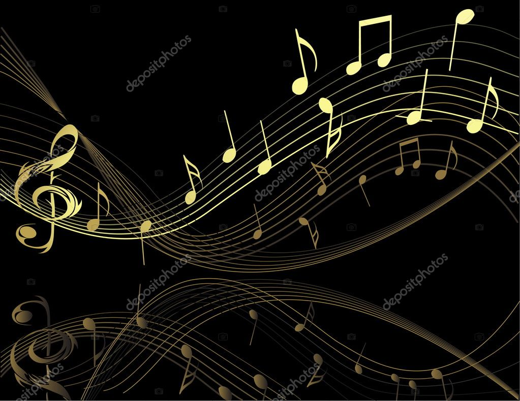 Background with music notes — Stock Vector #1971524