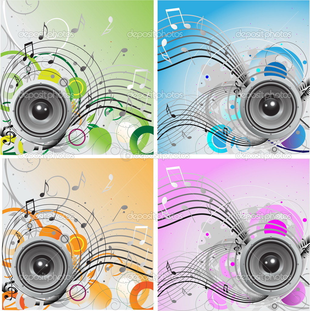 Loudspeaker background  Stock Vector #1971674