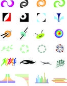 Collections of different signs — Stock Vector