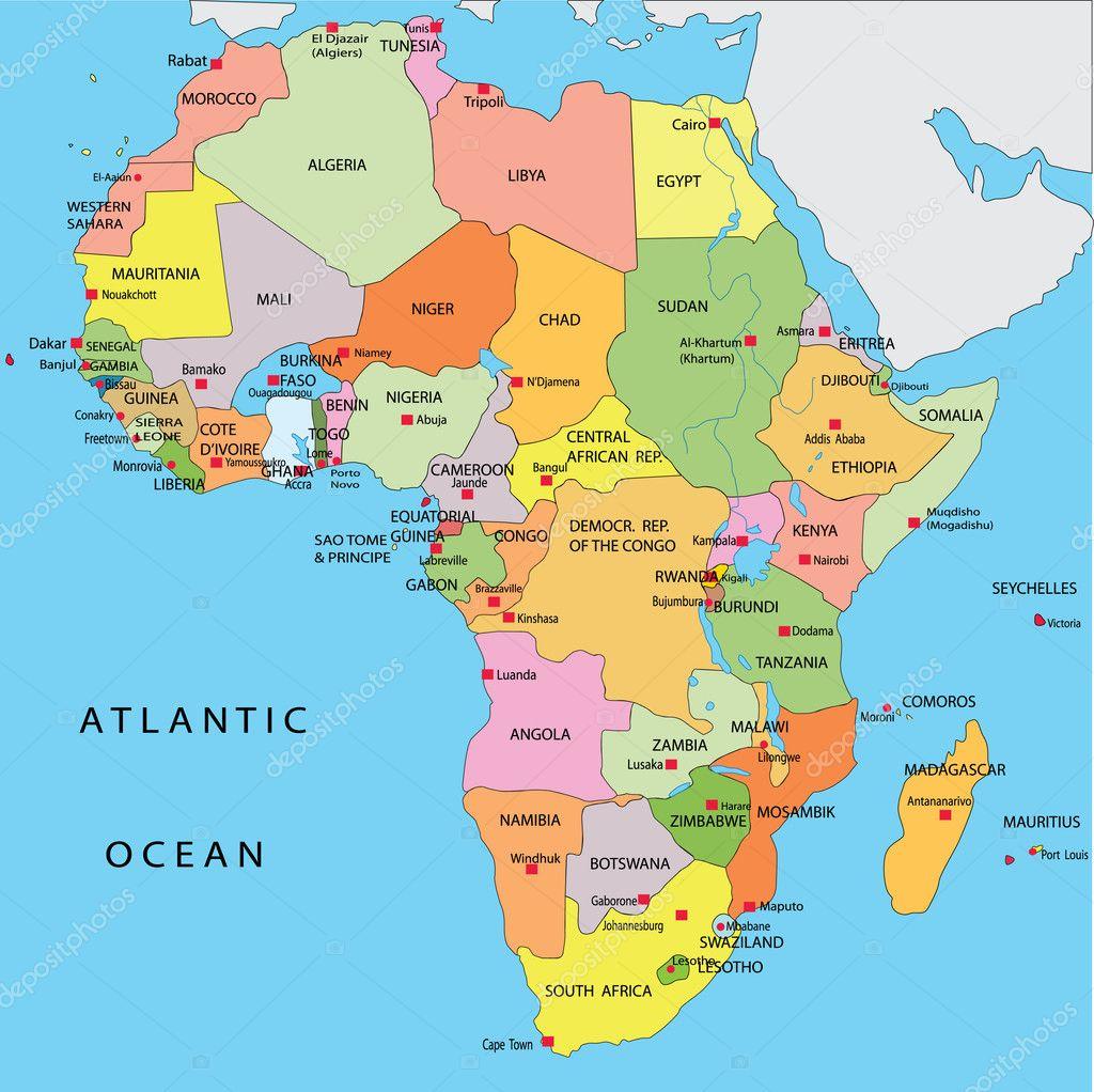 AFRIQUE MAPA | Dictionary Bank CARTE POLITIQUE DE L'AFRIQUE