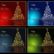 Royalty-Free Stock Imagen vectorial: Collection of Happy New Year background