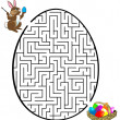 Rabbit is looking for the eggs - Stock Vector