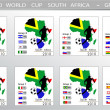 Stock Vector: World Cup South Africballs - Groups