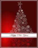 Feliz ano novo fundo — Vetorial Stock