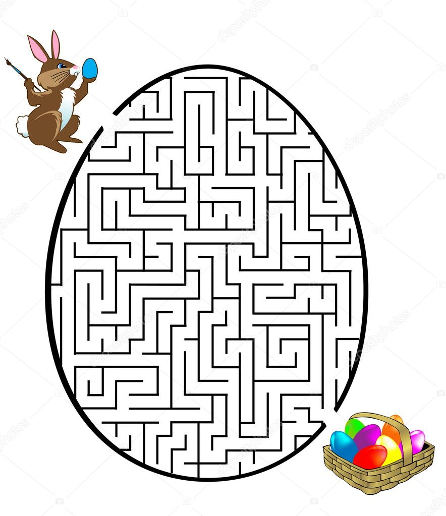 Rabbit is looking for the eggs — Stock Vector #2034002