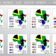 World Cup South Africa balls - Groups — Vettoriali Stock