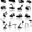 Construction vehicles - vector collectio — Imagen vectorial