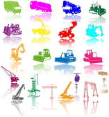 Construction vehicles - vector collectio — Stock Vector