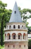 Berühmten mittelalterlichen Galata-Turm in istanbul — Stockfoto