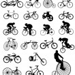 Vector illustration of bicycles — Stock Vector #2381514