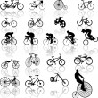 Vector illustration of bicycles - Grafika wektorowa