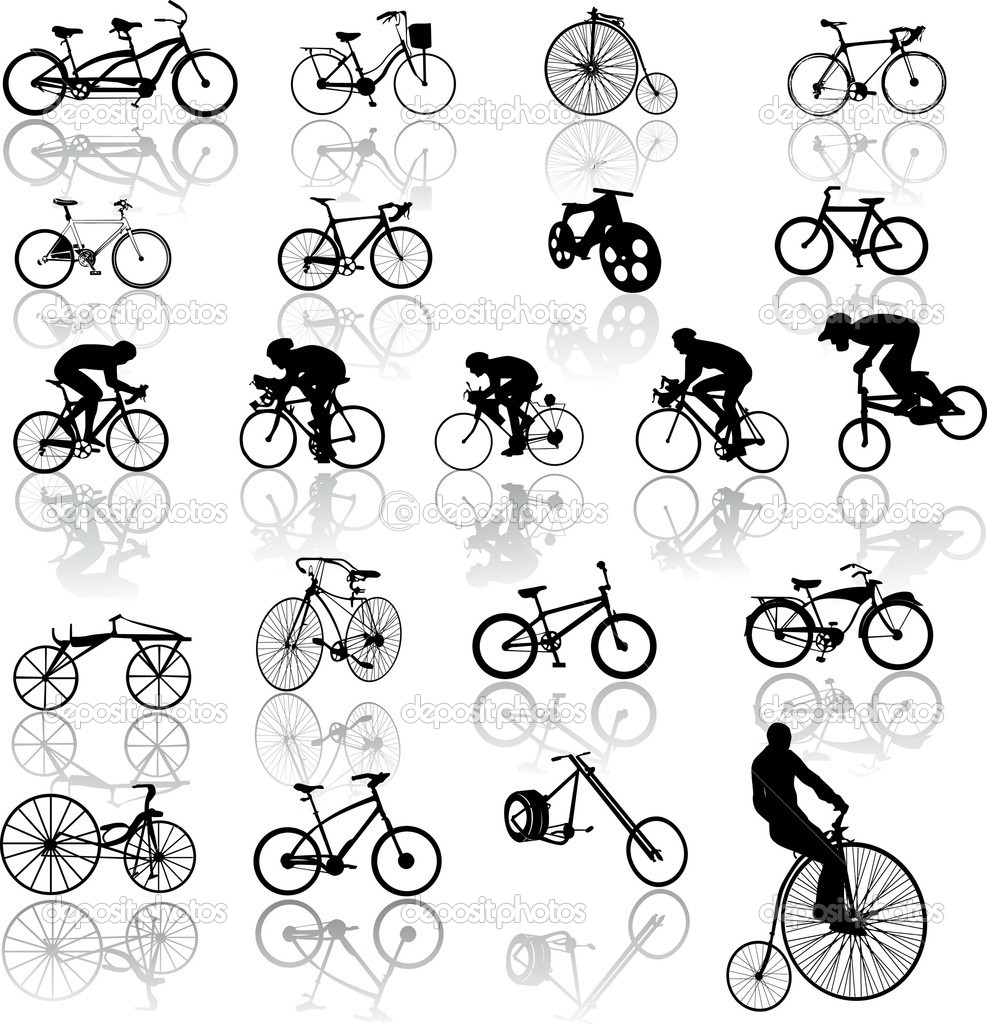Vector illustration of bicycles — Stock Vector #2381529