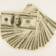 One Hundred Dollar Bills Fanned - Stock Photo