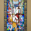 Modern stained glass — Stockfoto