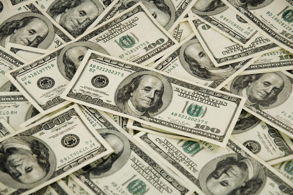gros tas de l'argent de dollars usa — Photographie jelen80