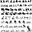 Royalty-Free Stock Vector Image: Vector illustration of bicycles, yachts