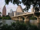Congress avenue köprüsü — Stok fotoğraf