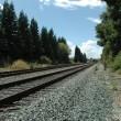 Caltrain tracks — Stock Photo