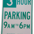 Stock Photo: Three Hour Parking
