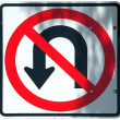No U-Turn graphic — Stock Photo