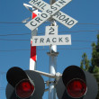 Railroad Crossing - Foto Stock