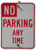 No Parking Any Time — Stock Photo