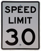 Speed Limit 30 — Stock Photo