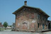 Railroad depot building — Stock Photo
