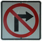 No Right Turn — Stock Photo