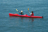Kayakers — Stock Photo
