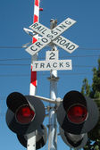 Railroad Crossing — Stockfoto