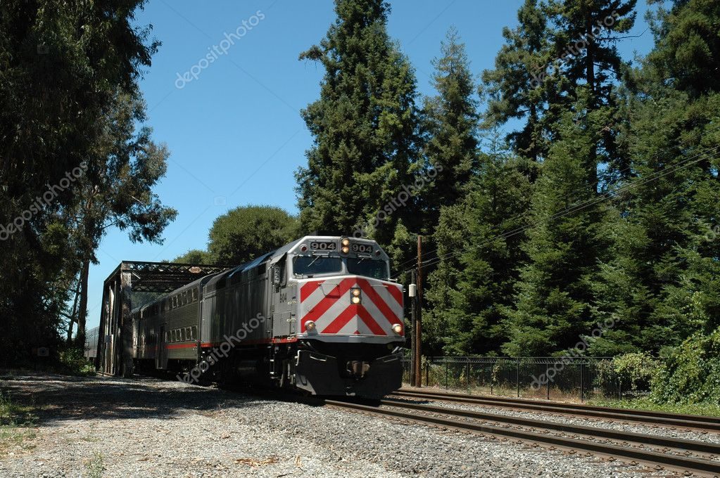 San Francisco Peninsula commuter train, Palo Alto, California — Stock Photo #1967051