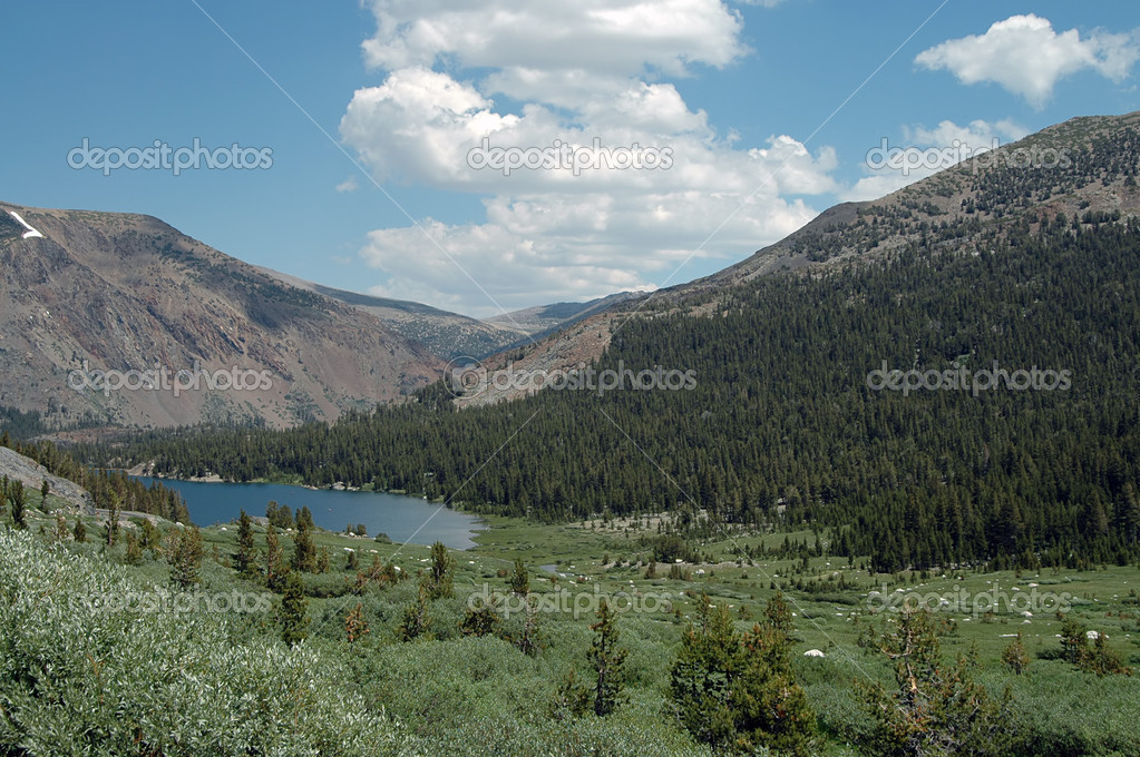 High mountain lake outside Yosemite National Park, California  Stock Photo #1967678