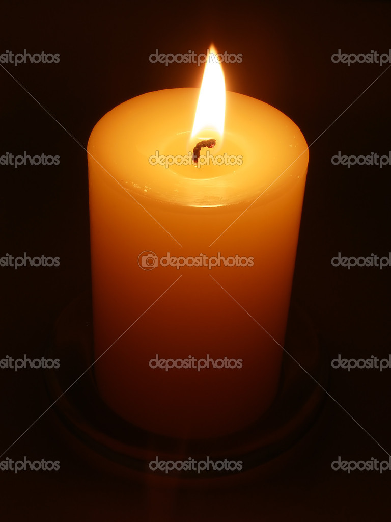 Candle by candlelight — Foto de Stock   #1967992