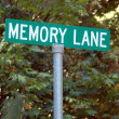 memory lane — Stock Photo