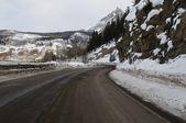 Road through the snow — Stock Photo