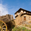 Authentic house and cart infront — Stok Fotoğraf #1983953