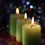 κερί σε σκούρο φόντο — ストック写真